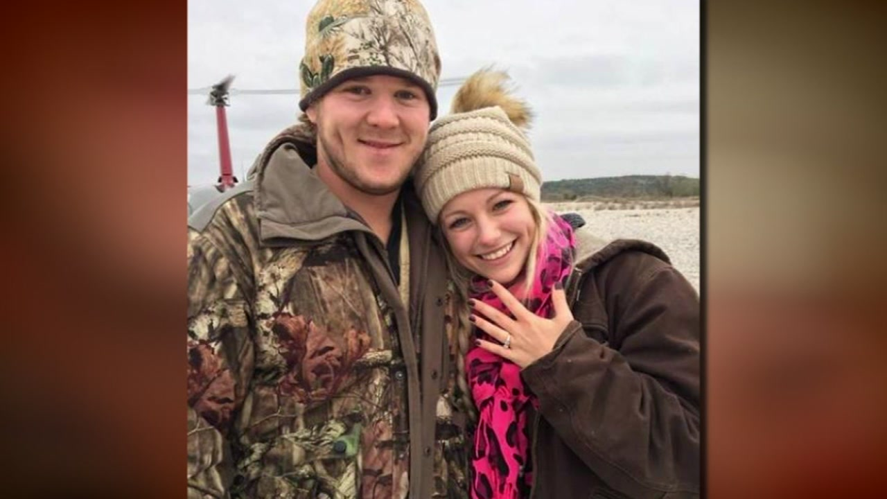 2 newlyweds and pilot killed in helicopter crash near Uvalde, Texas.