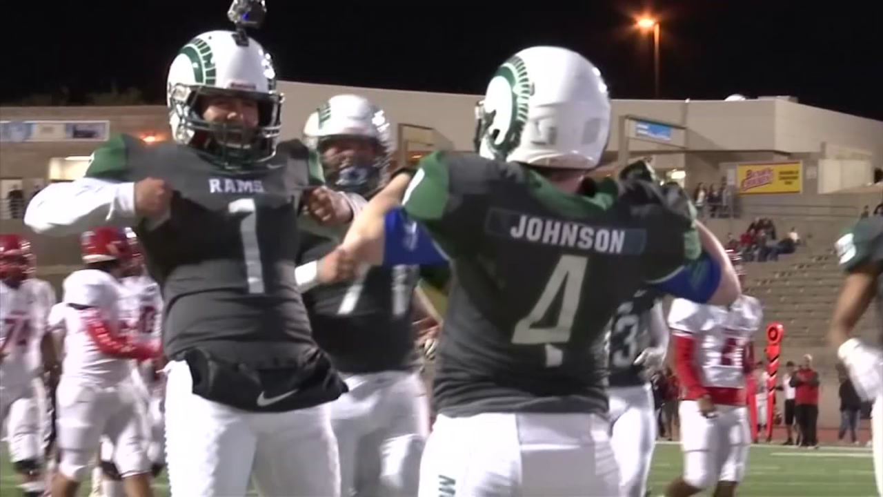 A high school senior got to celebrate Senior Night with an amazing touchdown run.