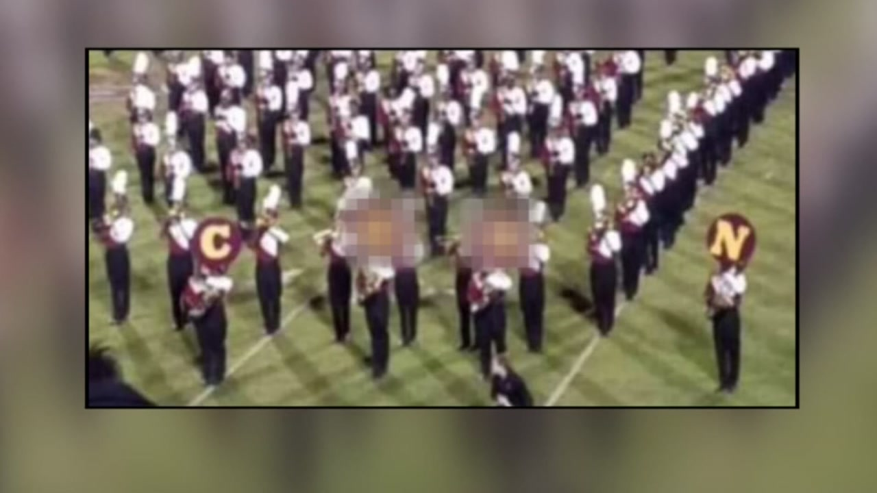 Marching band spells out racial slur during half time show