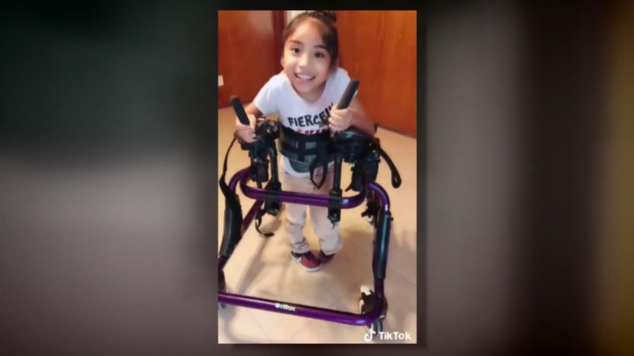 Girl with special needs getting new custom walker after thieves take her old one