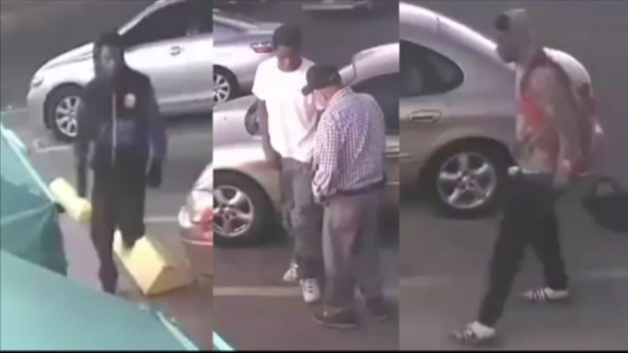 Surveillance video shows 3 suspects attacking elderly man
