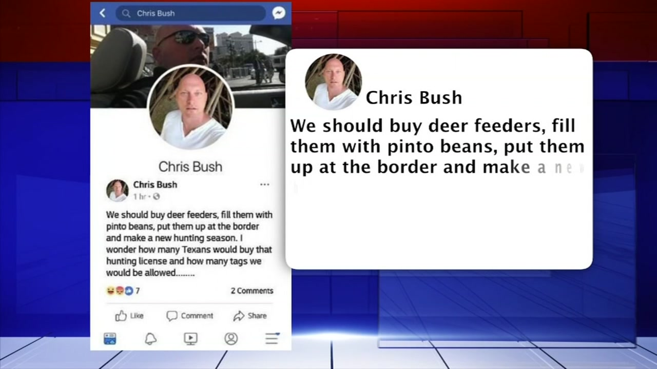 Veteran firefighter loses job after post about hunting on the border.