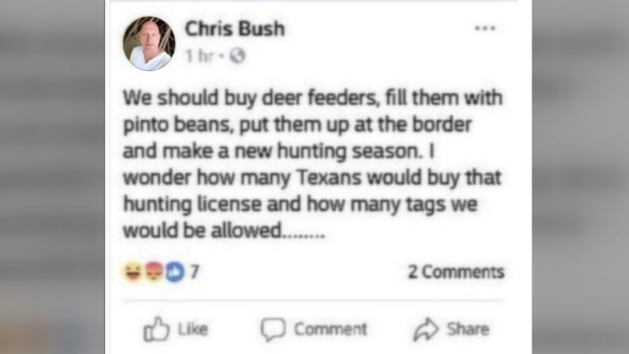 Firefighter loses job after post about hunting season at the border.