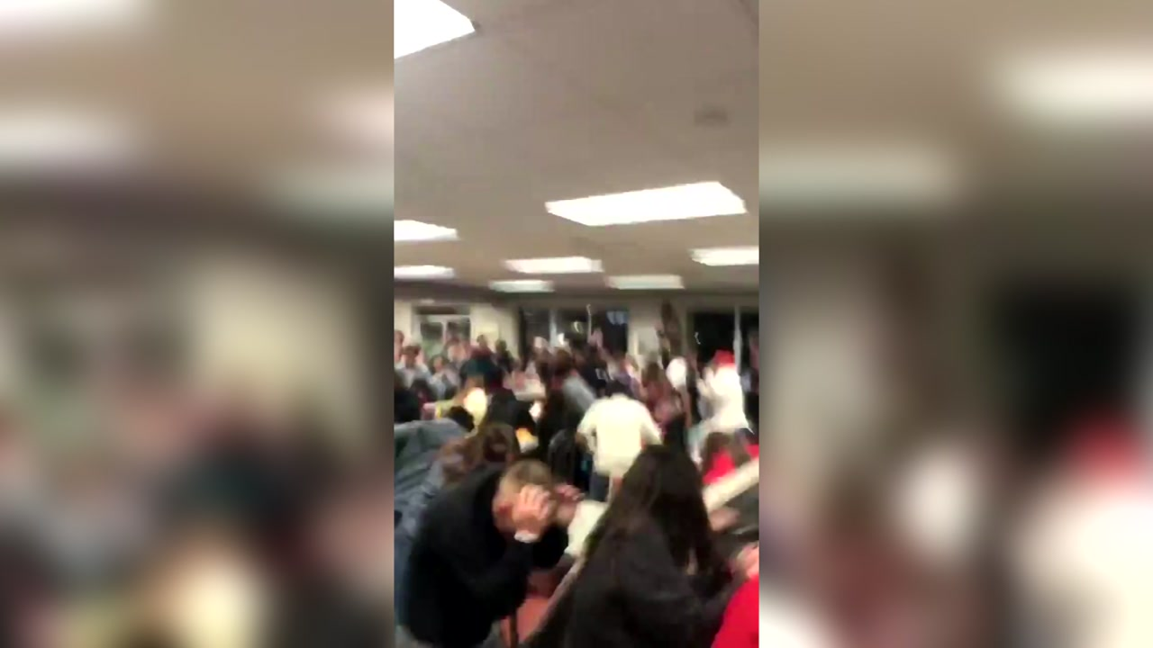 Food fight at Whataburger possibly between students at rival high schools caught on video