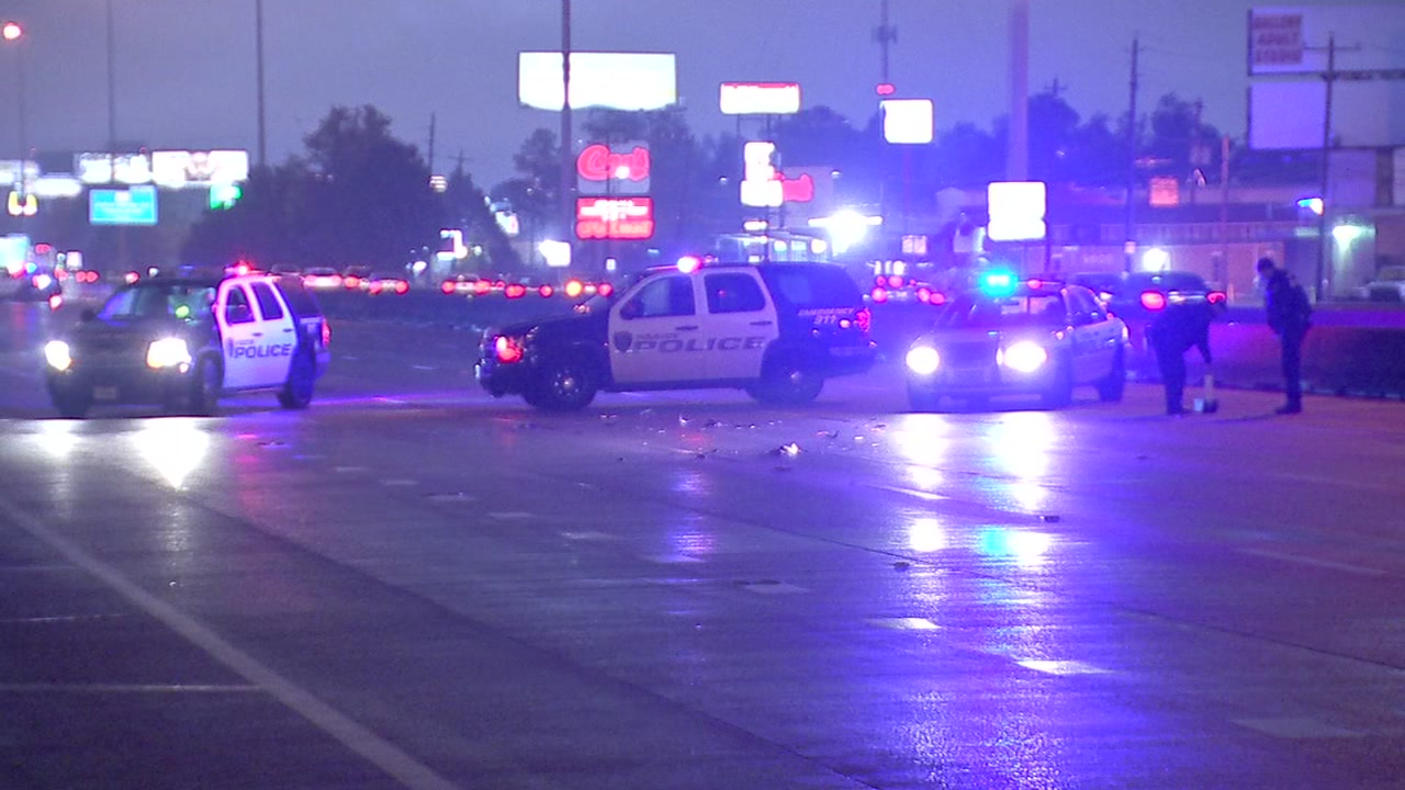 Police say the 2 drivers will not be charged after a woman was hit and killed crossing I-45 and West Road.