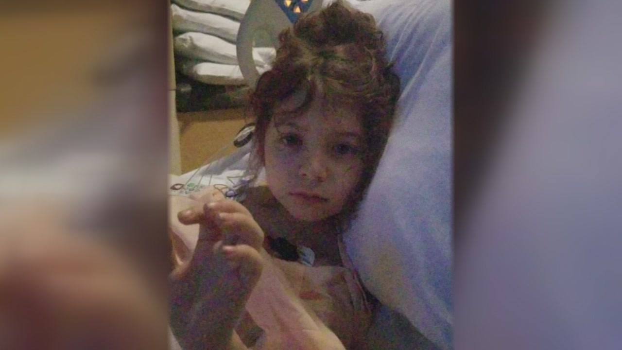 A 6-year-old girl hit by a stray bullet is recovering from surgery.