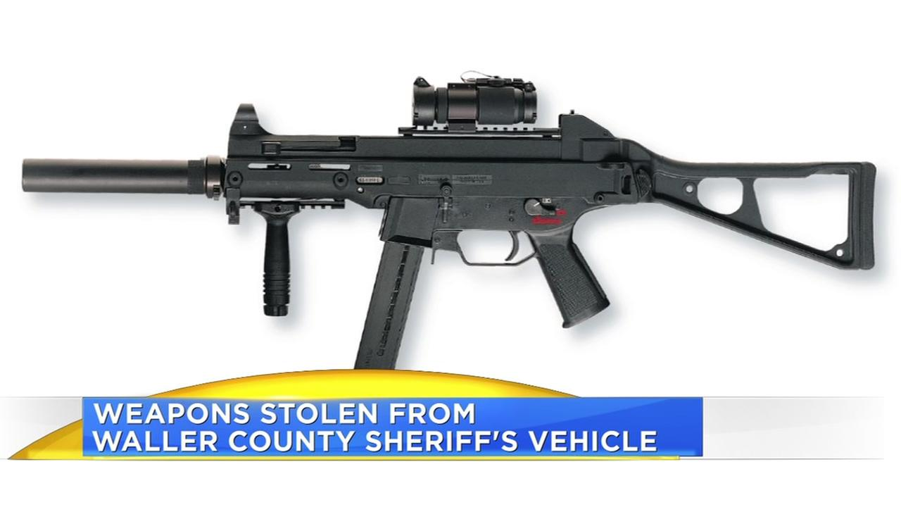Weapons stolen from trucks