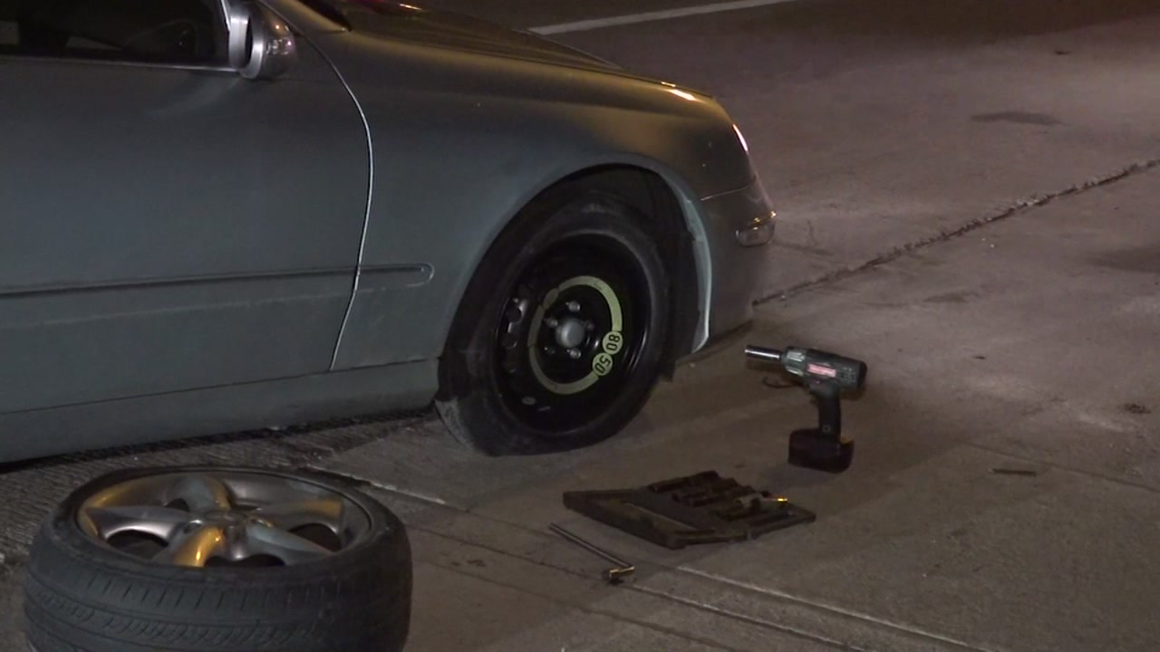 Road debris blows tires out of nearly 2 dozen vehicles on the North Freeway