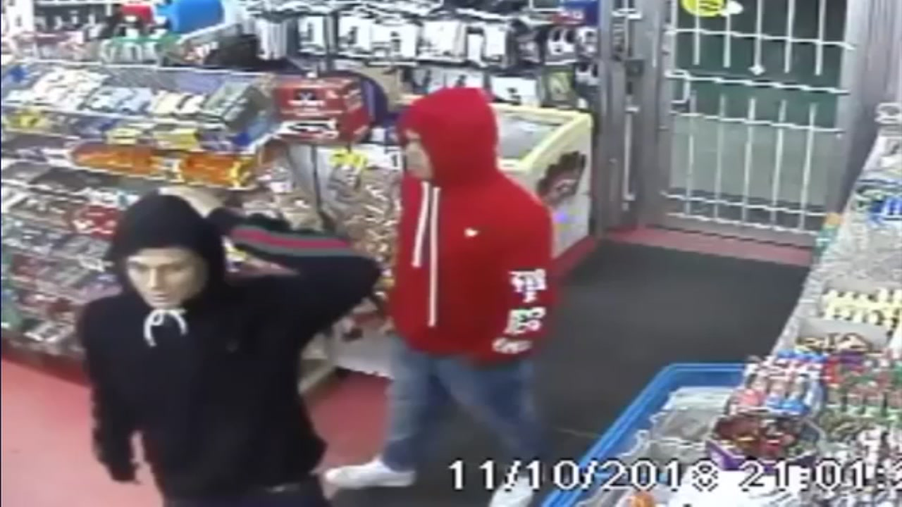 Houston police have just released new surveillance video showing two men who killed a convenience store clerk in Spring Branch.