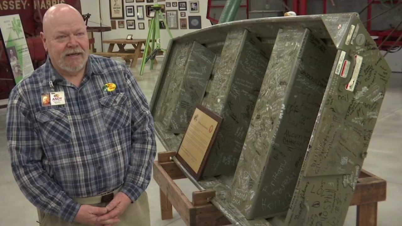 Rescue boat used during Hurricane Harvey immortalized in a museum.