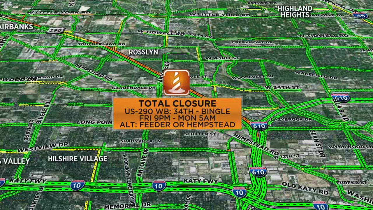 3 highways facing major closures this weekend