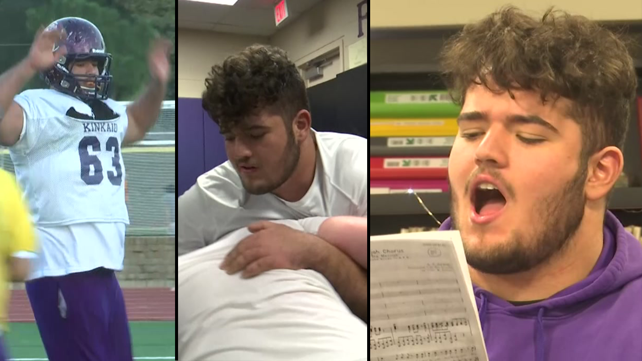 Football and wrestling take a toll on his body, but choir just melts everything away.