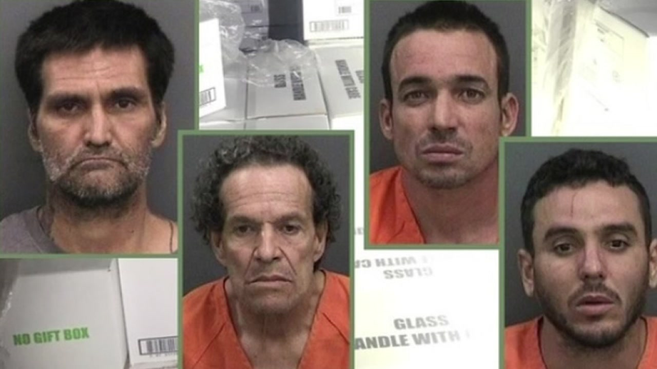 Four men arressted for stealing patron.