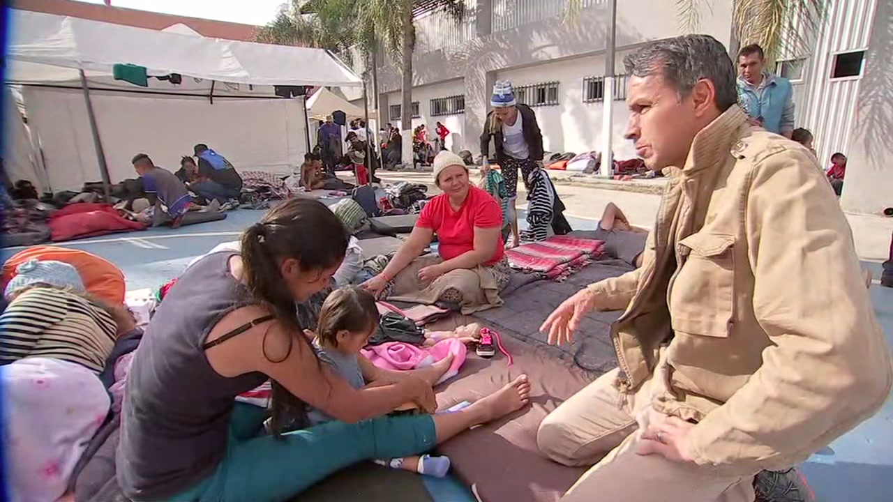 Art Rascon takes you inside the camp in Tijuana with the migrant caravan