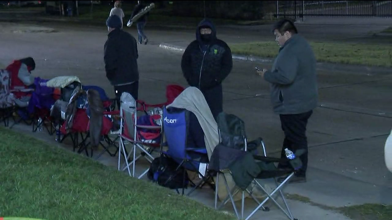 One person told ABC13 reporter Katherine Marchand that theyve been in line since 9 a.m. Tuesday.
