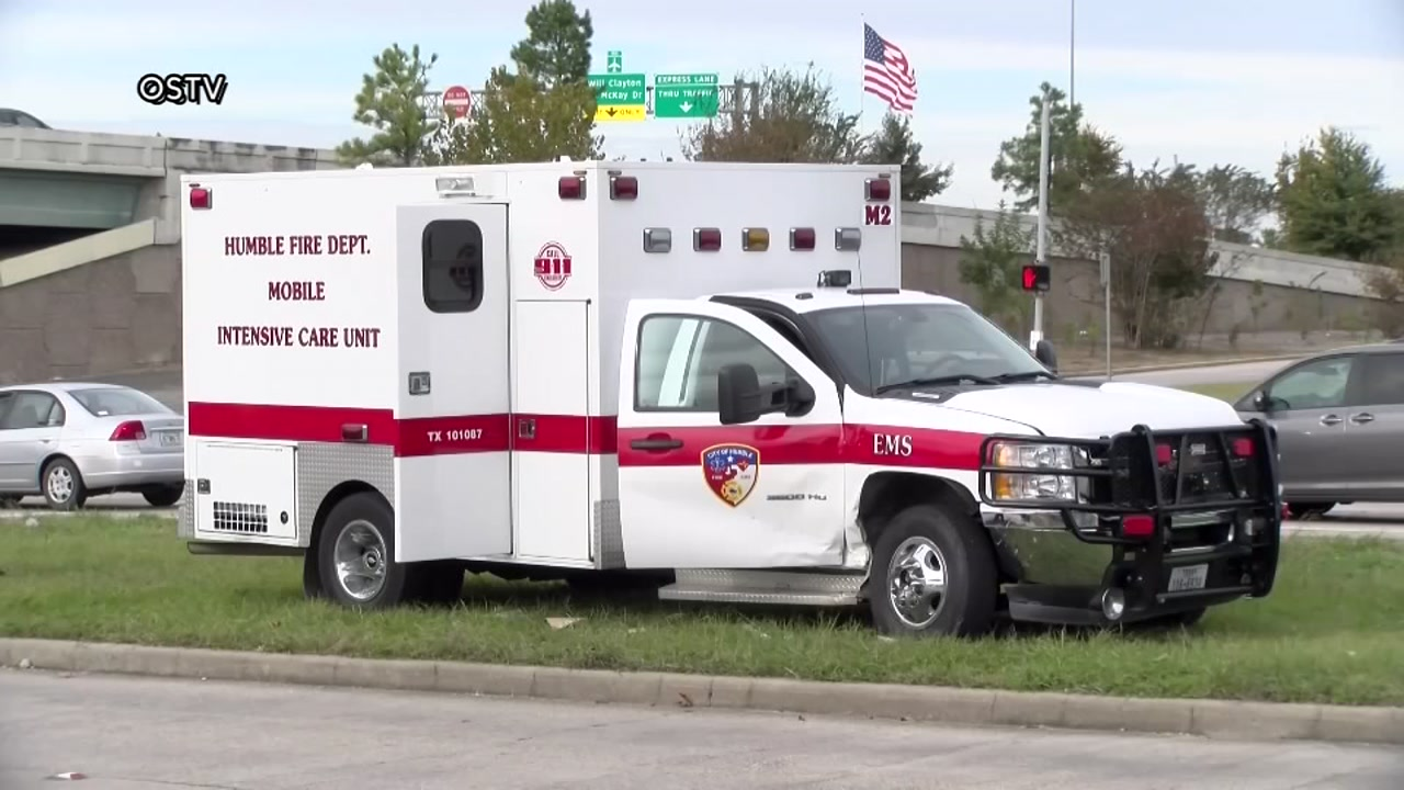 Driver crashes into ambulance in Humble, police say