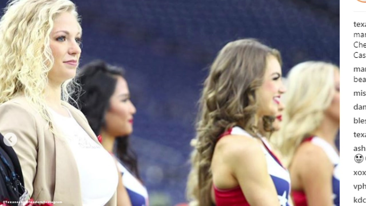 Casey Potter is the new coach for the Texans Cheerleaders