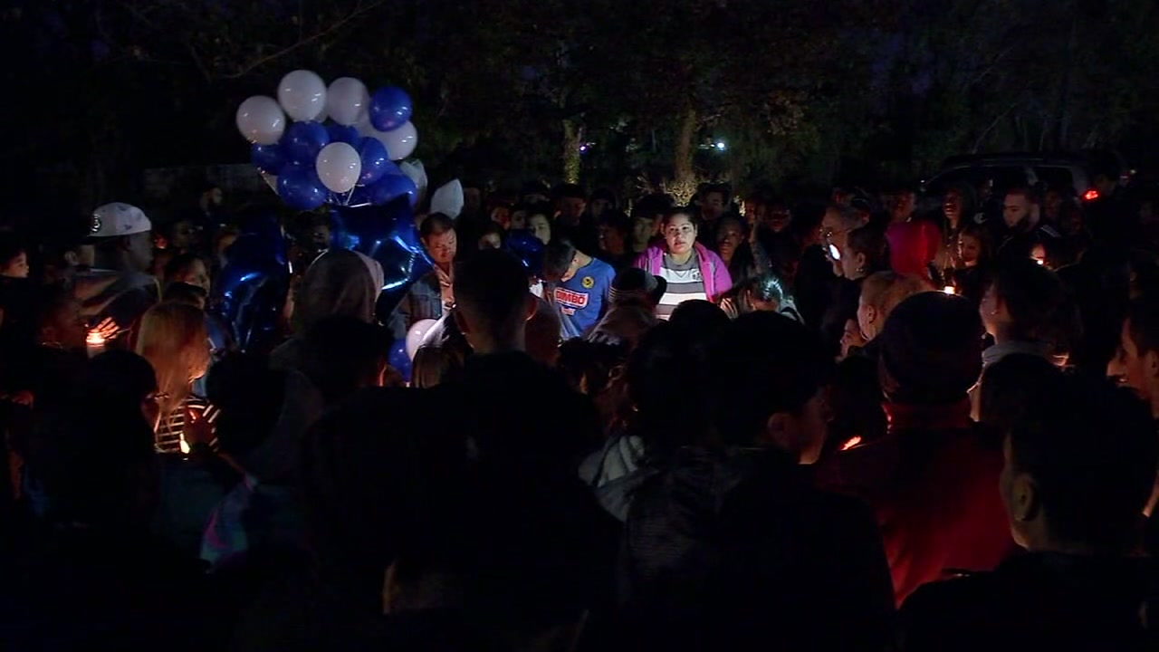 Vigil held for 13-year-old shot during block party in north Houston