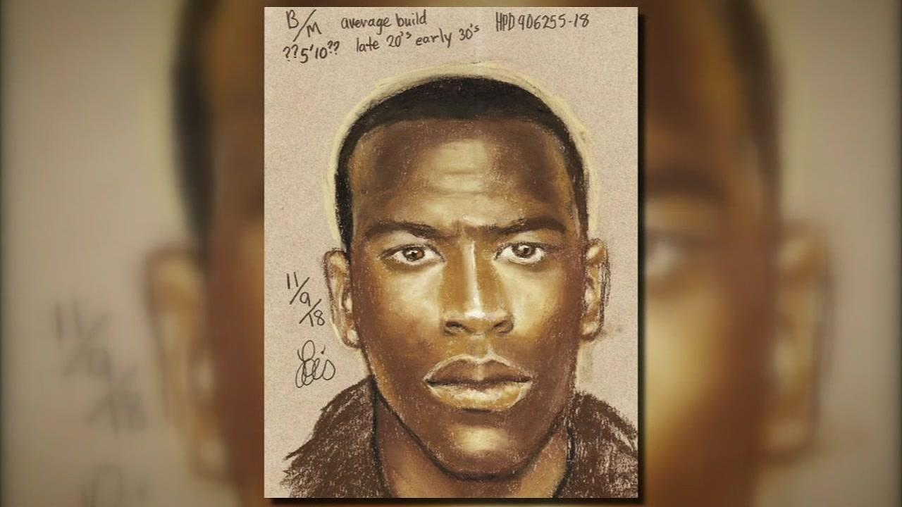 Deputies release sketch of purse snatching suspect in Memorial