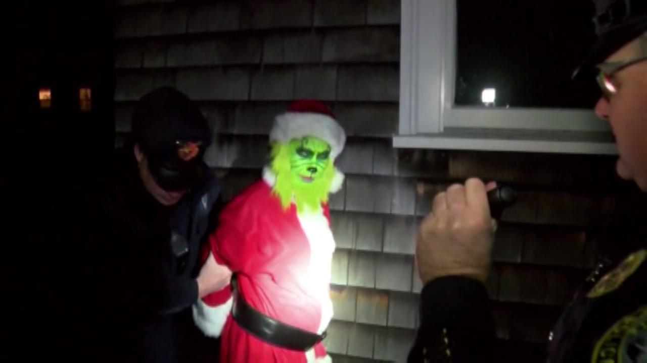 VIDEO: Man dressed as Grinch caught stealing from home