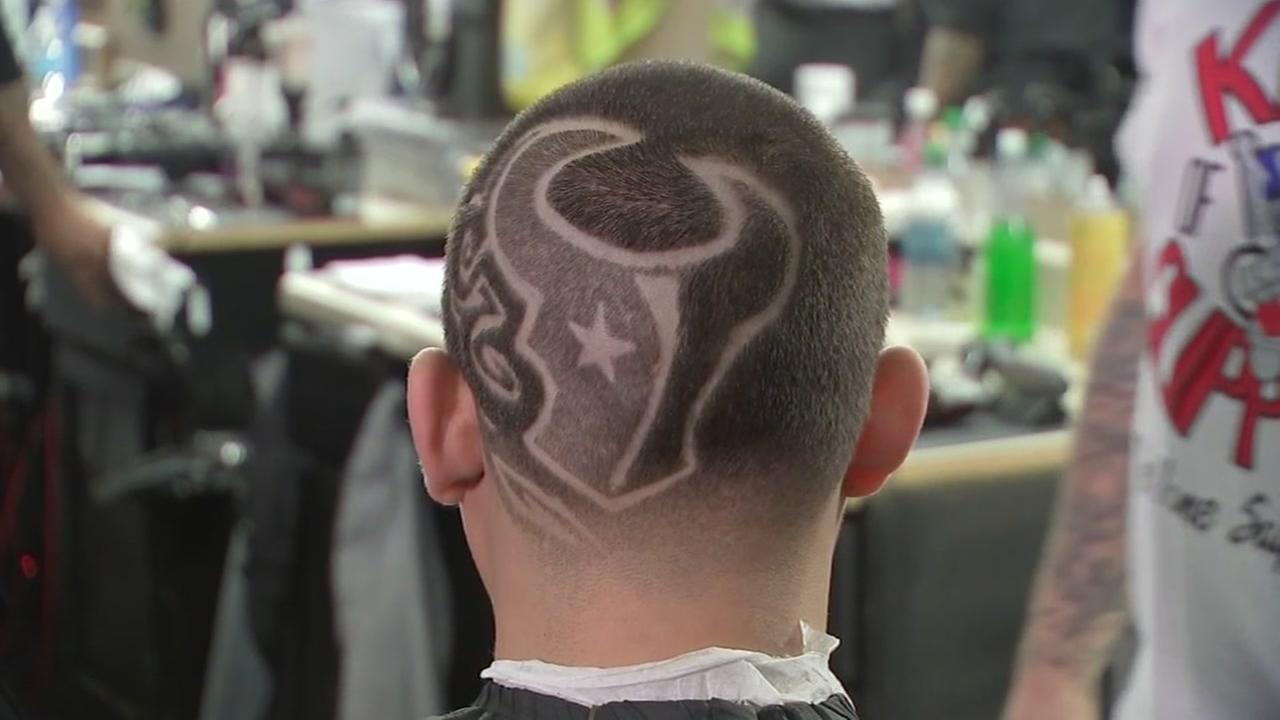 Fans Show Team Pride With Texans Themed Haircuts Abc13
