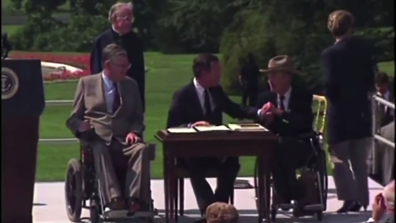 VIDEO DIARY: Pres. George HW Bush signed Americans with Disabilities Act in 1990