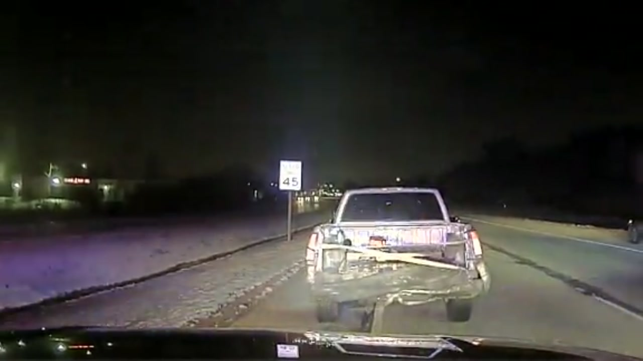 A Wisconsin man does what he can to try to escape from a police chase, but in the end, .he gets busted.
