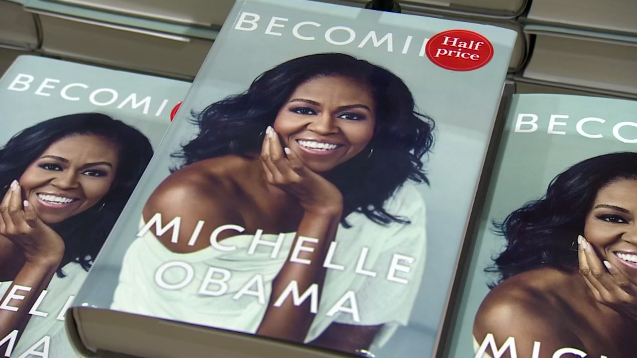 Michelle Obama's memoir has become the year's bestselling book, according to the book's publisher.