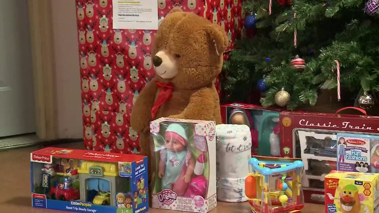 8 year old boy collects toys for hospital patients