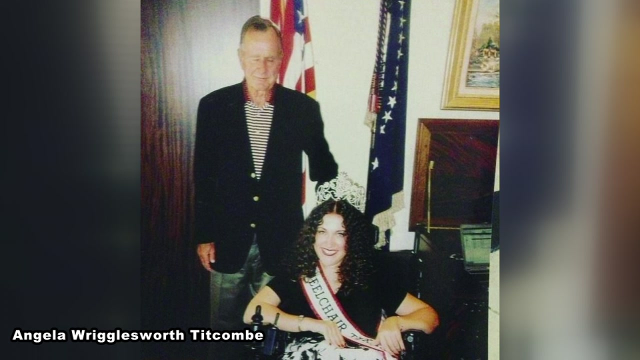Former Miss Wheelchair Texas shares story behind memorable photo with George H.W. Bush