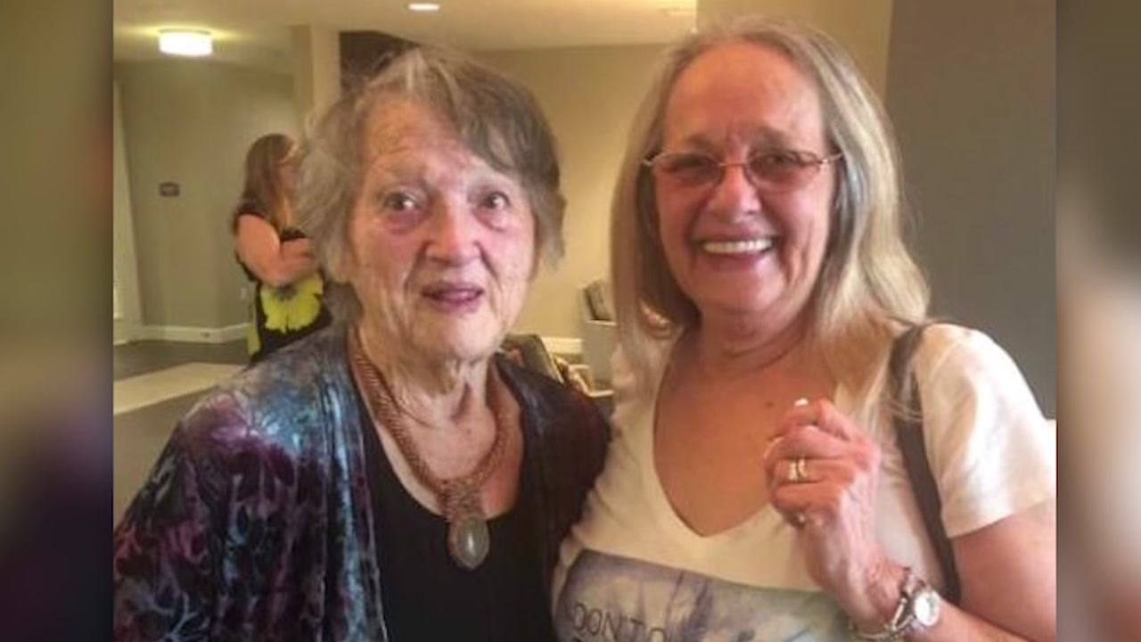 Woman reunites with her birth mother after 69 years