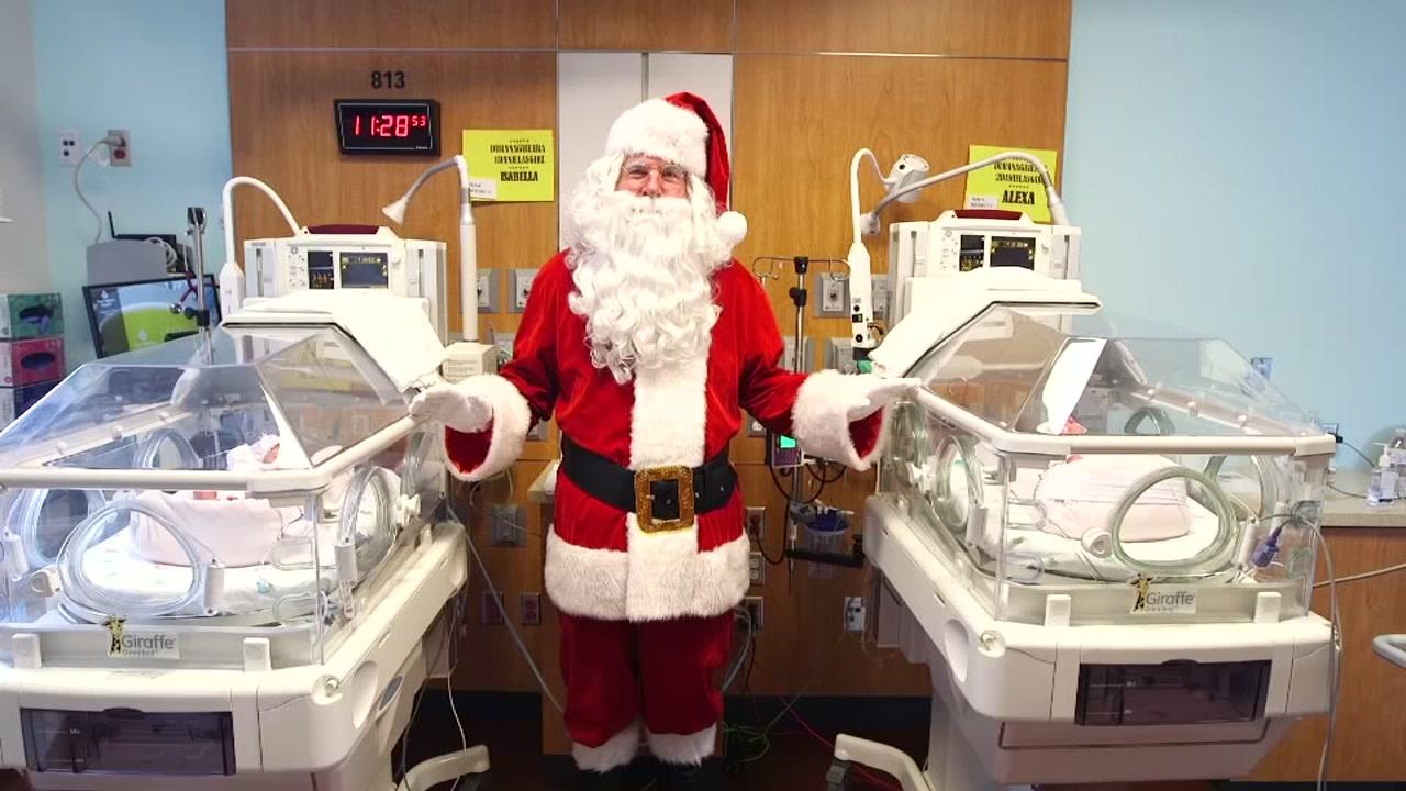 Santa makes a visit to Texas Childrens Newborn Center