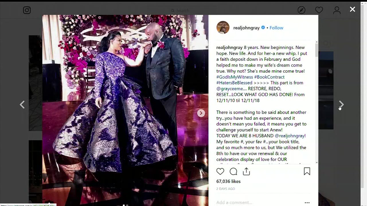 Pastor John Gray is facing criticism and support over buying his wife a luxury SUV.