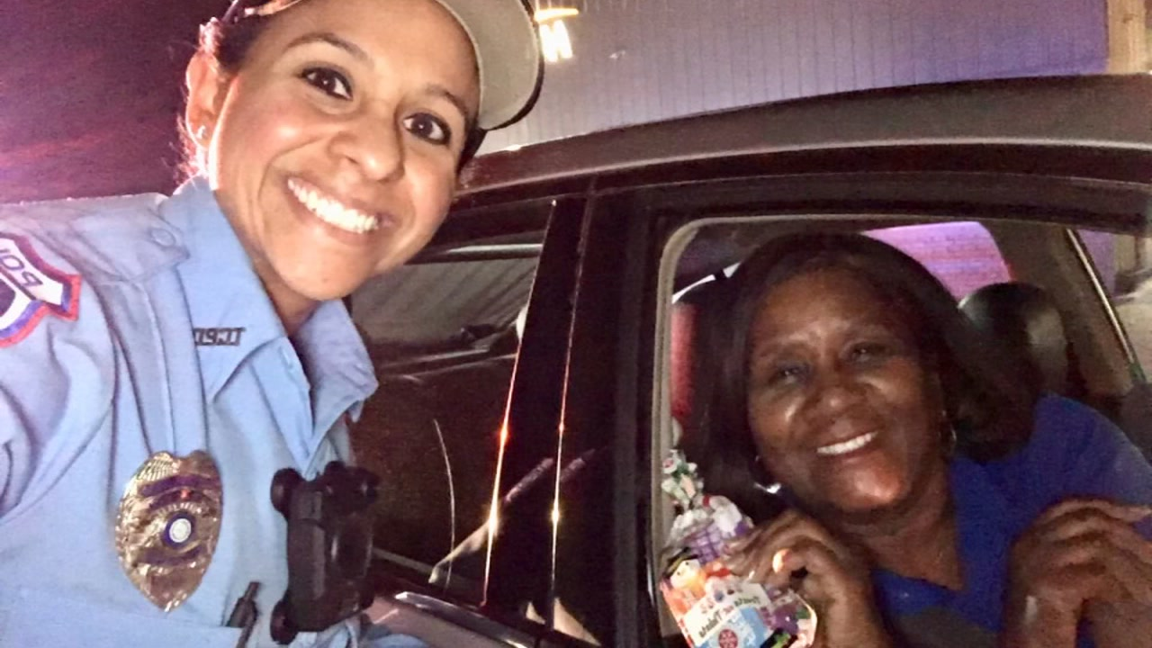Texas City Police swap tickets for treats this Christmas.