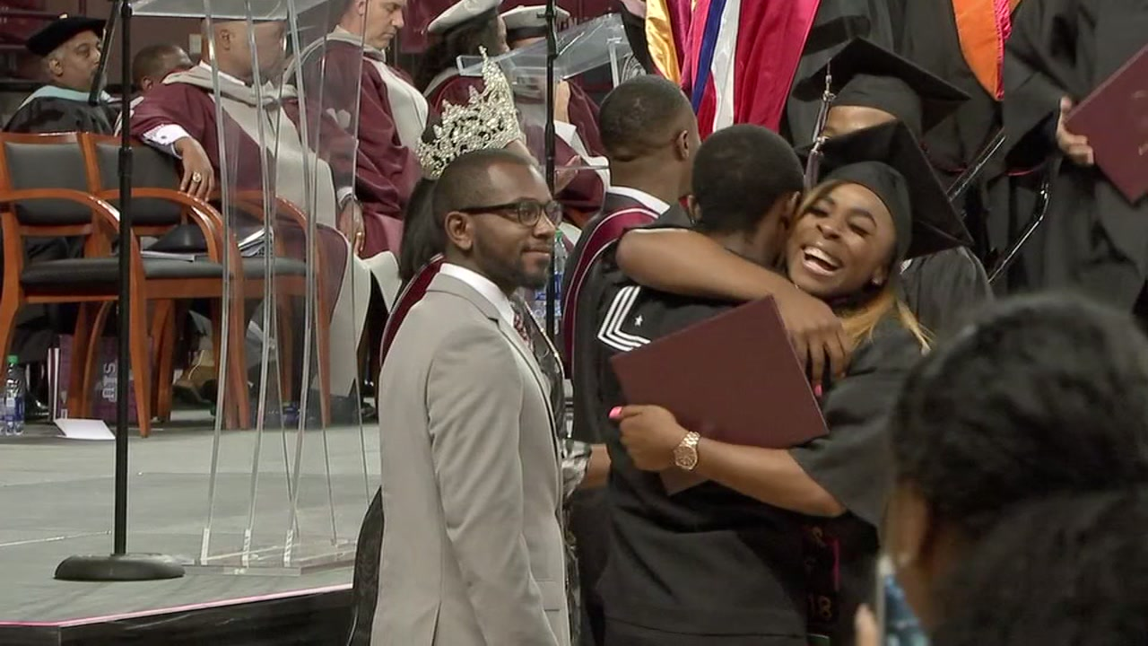Texas Southern University graduates receives surprise from her brother