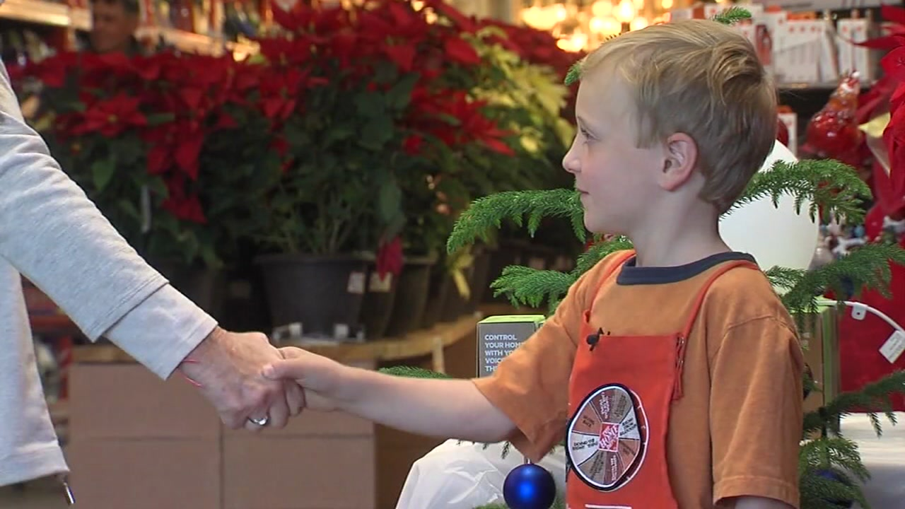 6 year old gets hired as home depot greeter