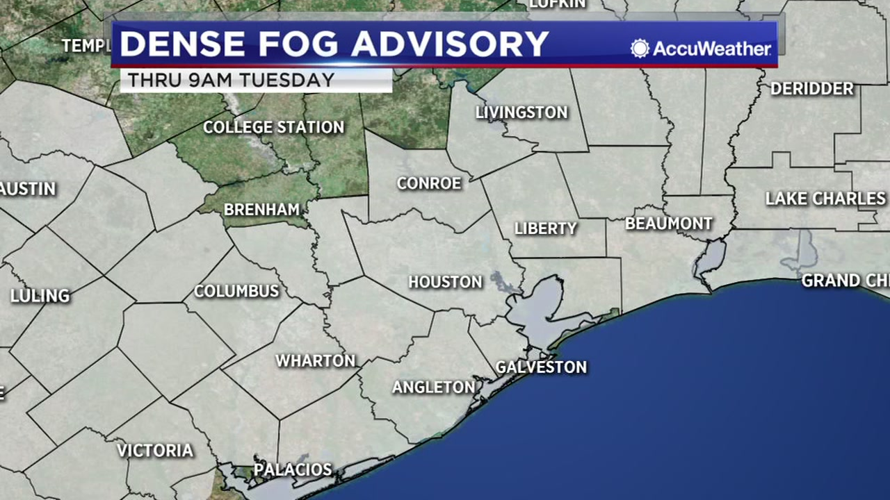 A Dense Fog Advisory is in effect until 9 a.m. Travis says to use caution as you head out.