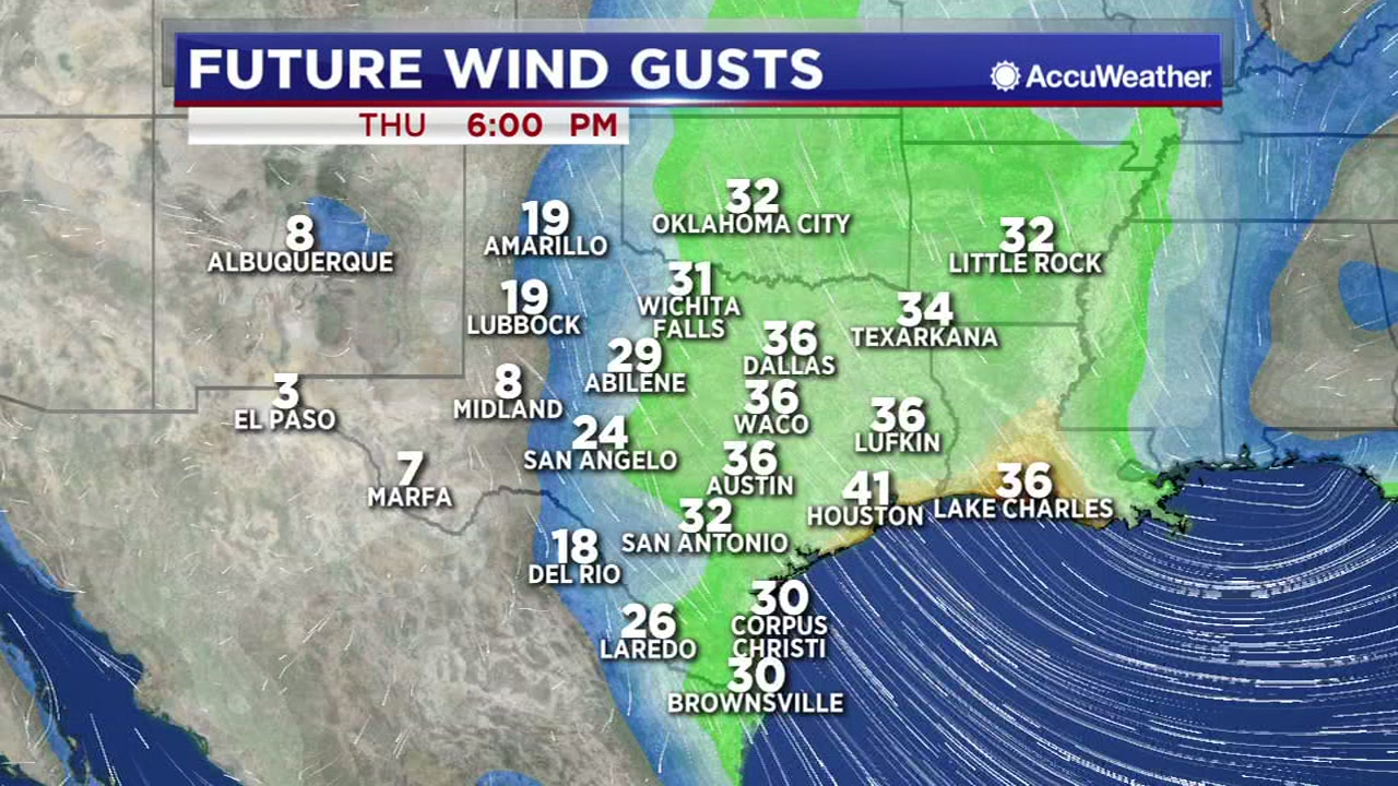 Expect a very windy day on Thursday.