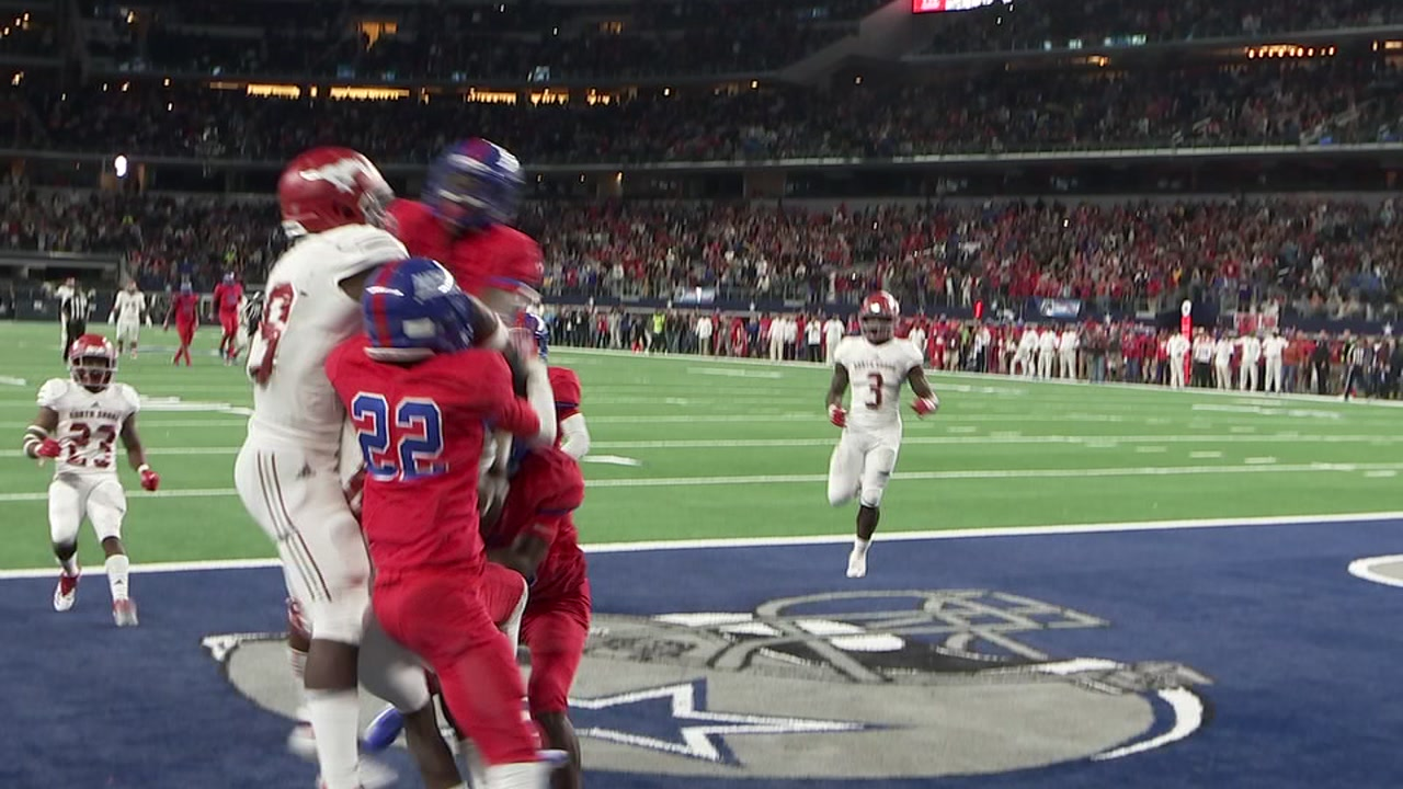 3 seconds left on the clock, North Shore High Schools Hail Mary pass wins state football championship
