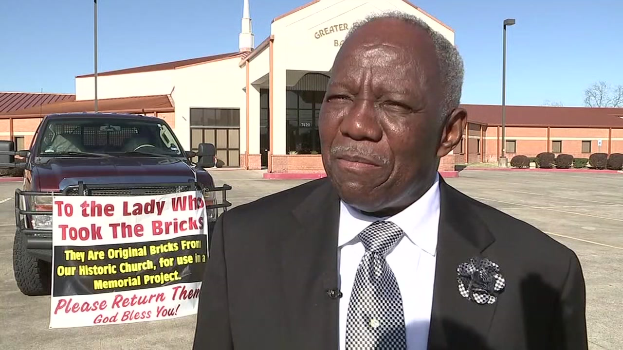 Deacon says bricks were stolen from 105-year-old historically African-American church