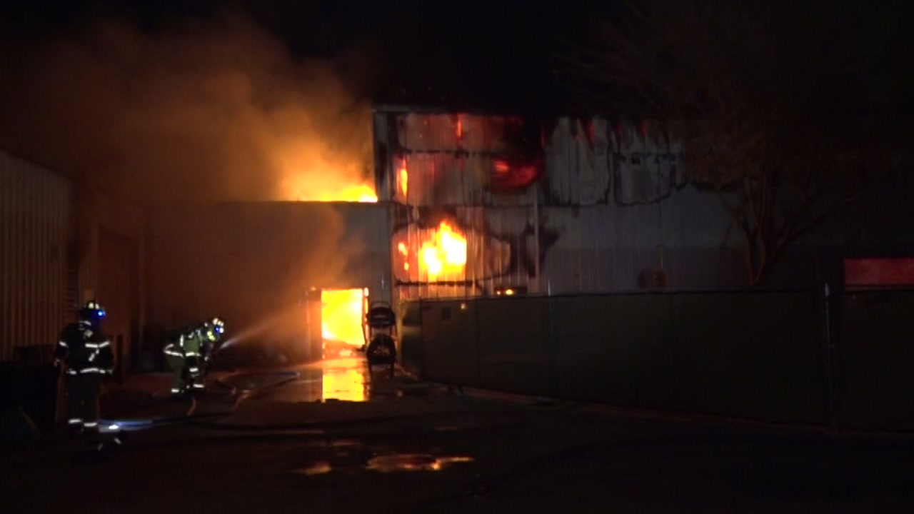 It is unknown if any vehicles were damaged or if anyone was inside at the time of the fire.