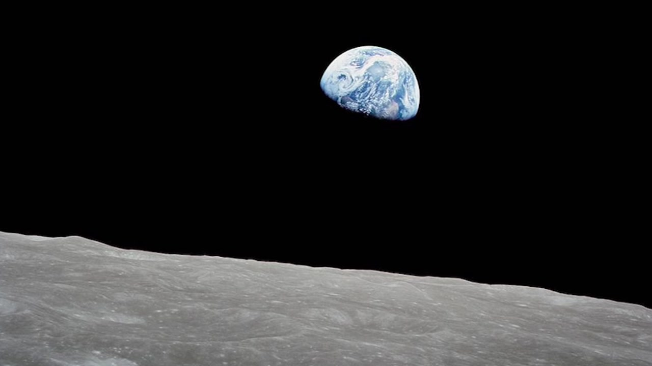 Apollo 8 was NASAs first flight to the moon on Christmas Eve 1968.