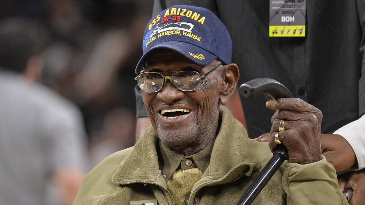 Richard Overton was in his thirties when he volunteered for the Army, and was sent into action after Pearl Harbor was attacked in 1941.