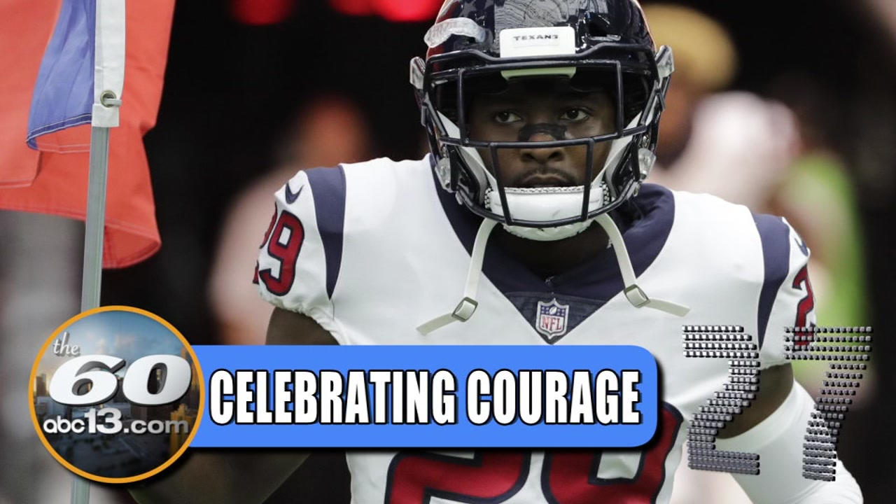 Houston Texans safety Andre Hal is being honored by his teammates with a courage award.