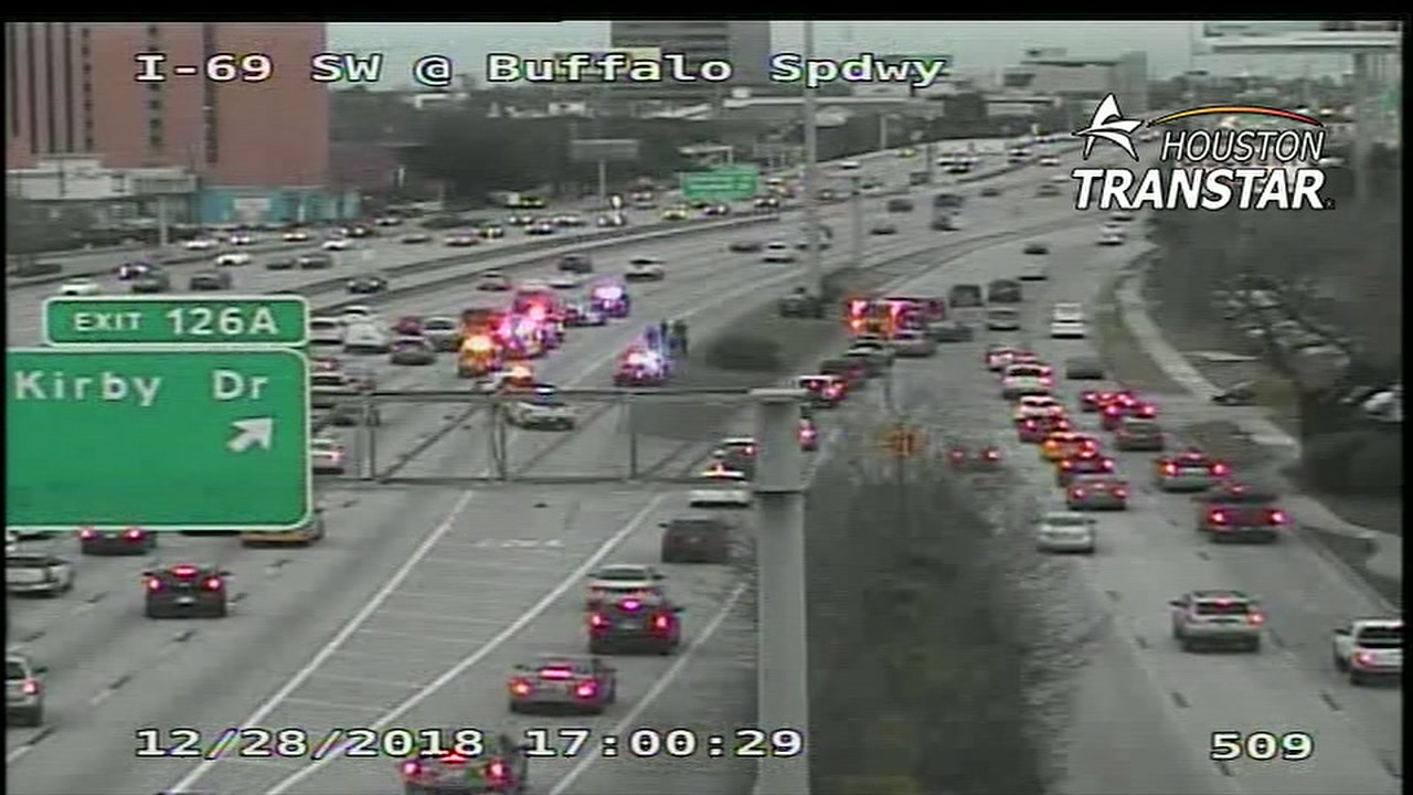 One person is dead after a crash on Southwest Freeway at Buffalo Speedway.