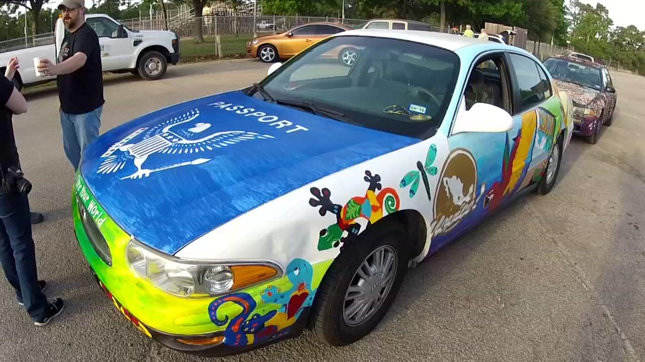 Travel to Mexico Art Car
