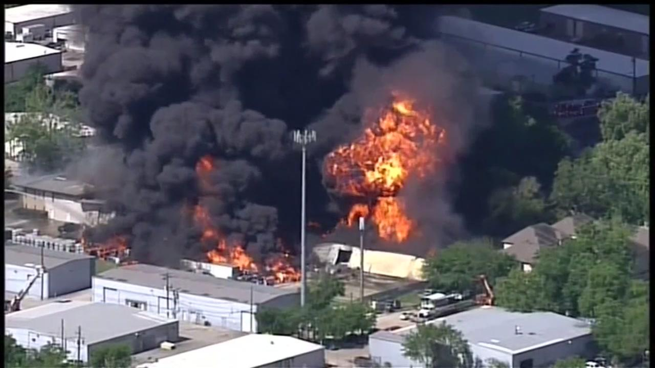 Authorities try to identify chemicals from warehouse fire