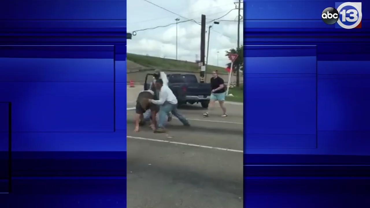 NW Houston road rage video FULL