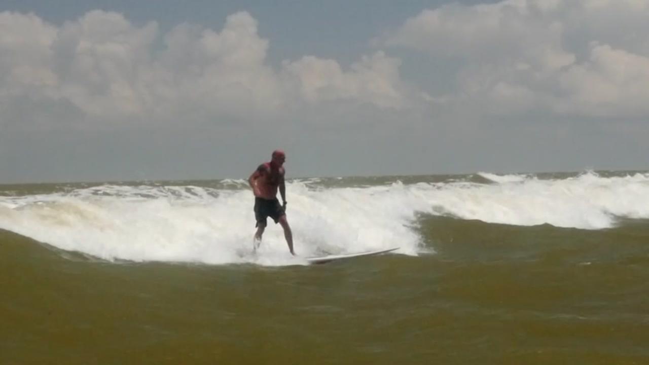 Tanker Surfing in Galveston Bay