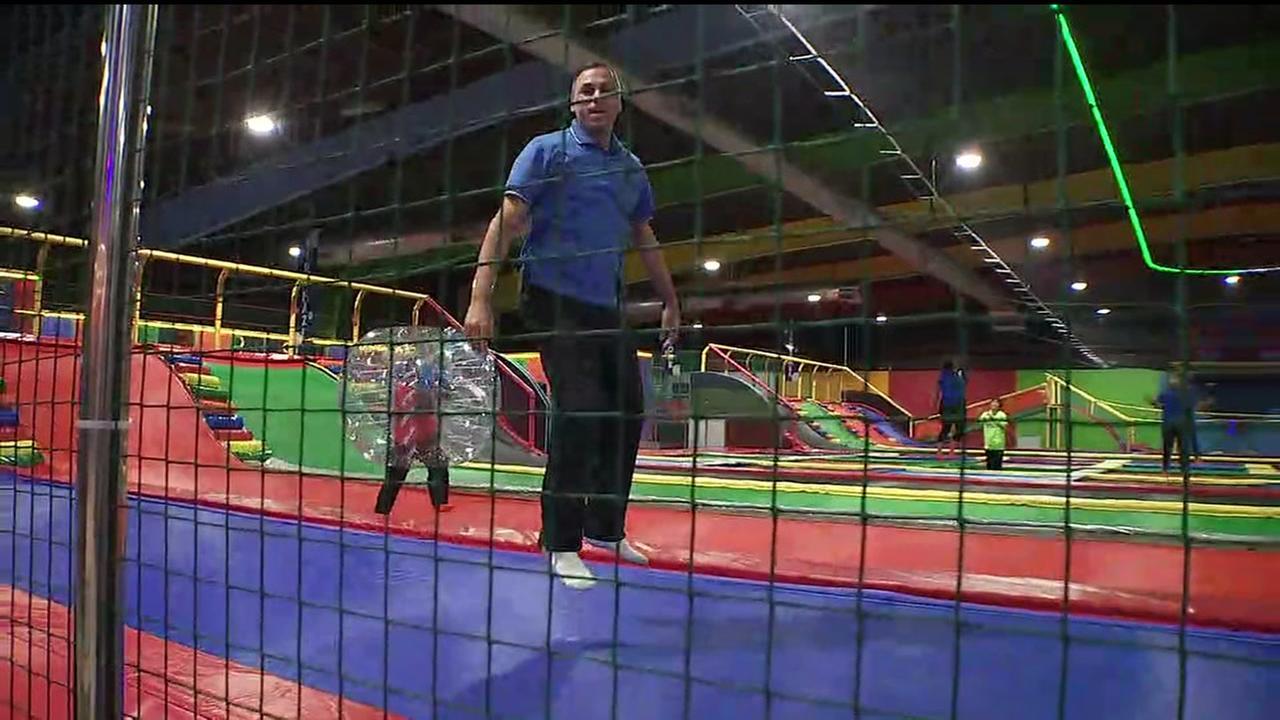 Foti at trampoline park